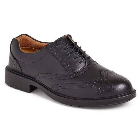 City Knights Brogue Executive Safety Shoes Mens