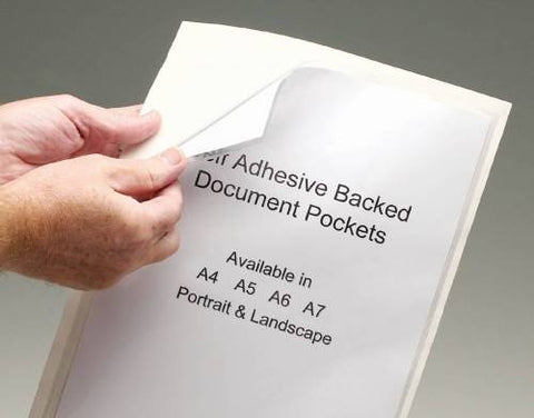 Self-adhesive Backed Document Protection Pockets A4 Horizontal 217x302mm PK=50