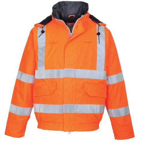 Bomber Jacket Fire Resistant Orange Bizflame Medium