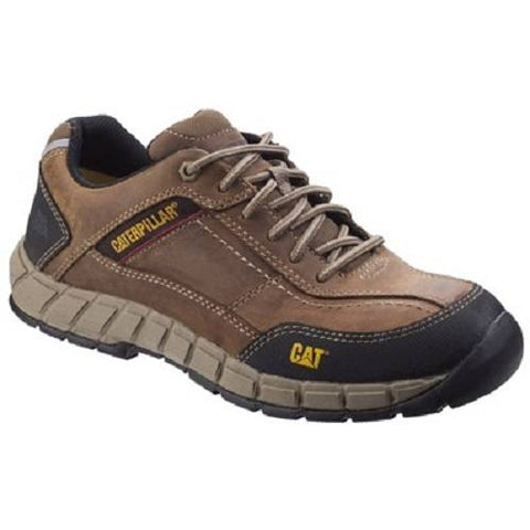 CAT Streamline Leather Safety Shoes Brown UK 9