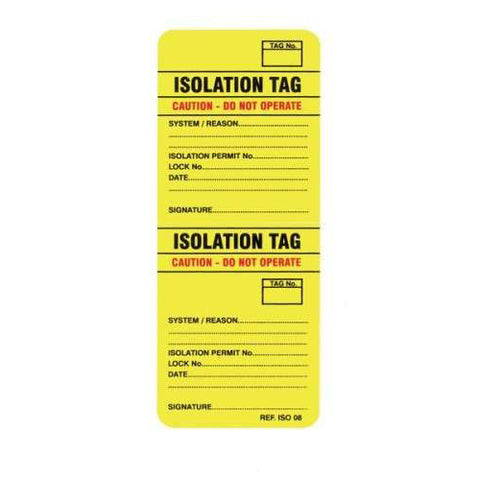 Isotag Isolation Tag Pack Of 50