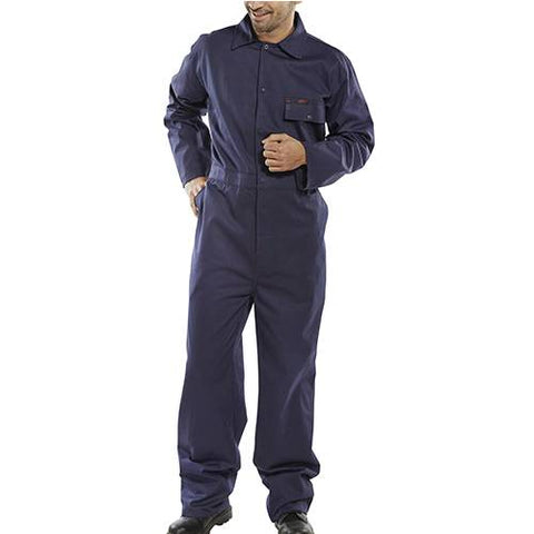 Cotton Drill Boiler Suit Navy Blue For Industrial And Agricultural Use 34''