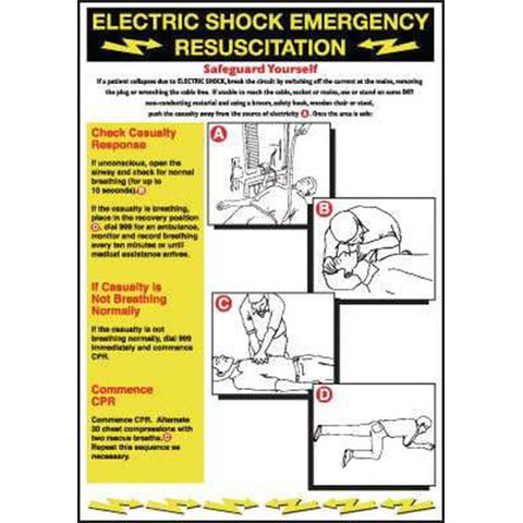 Wallchart Electric shock emergency