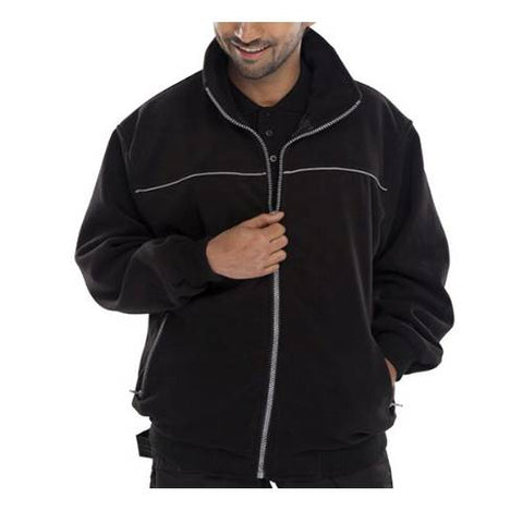 Mens Hooded Fleece Jacket eith Full Zip Front 5XL