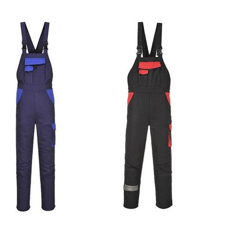 Portwest Warsaw Men Bib And Brace Overalls Large