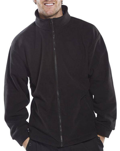 Fleece Jacket Black 4XL