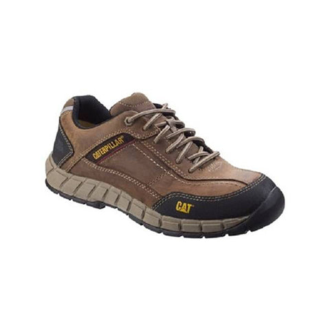 CAT Streamline Leather Safety Shoes Brown