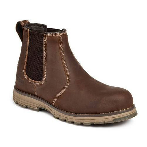Apache Brown Water Resistant Safety Dealer Boots