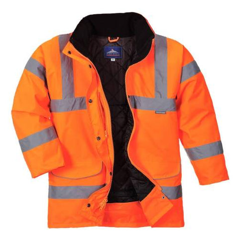 Hi-vis Ladies Traffic Jacket Orange XS