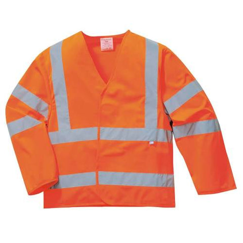 Hi-vis Anti Static Jacket - Flame Resistant L/XL Orange