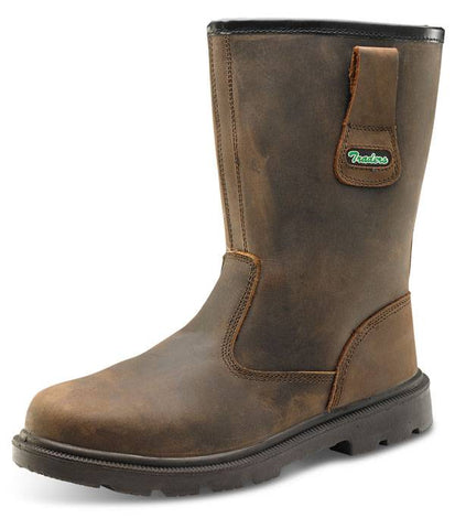 Rigger Boot Brown Steel Toe Cap 10.5