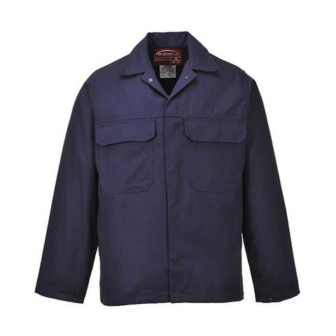 Portwest Navy Bizweld Fire Resistant Work Jacket XL