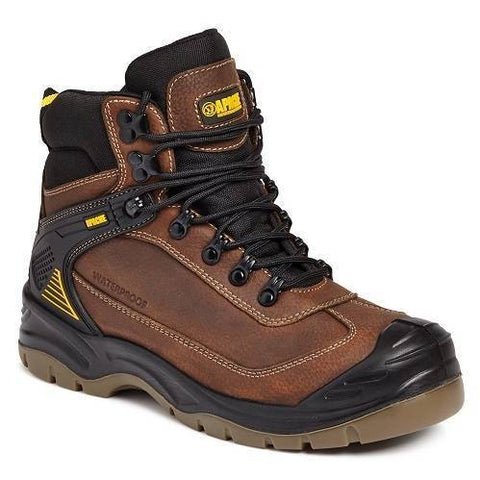 Apache Ranger Hiker Waterproof Safety Boots Brown UK 9
