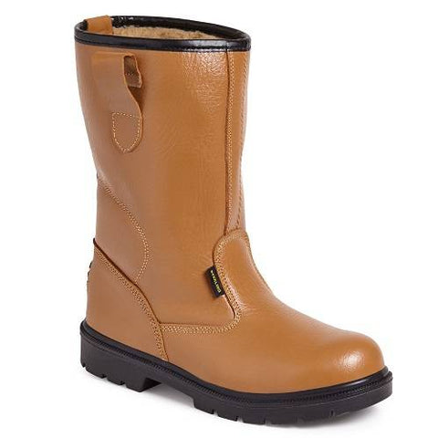 Worksite Ss403sm Tan Fur Lined Rigger Boots UK 5