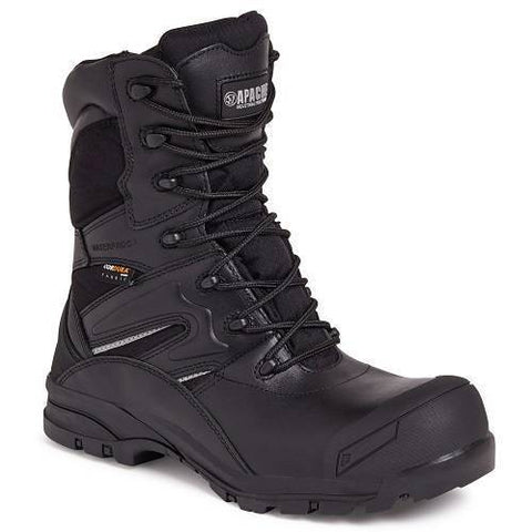 Apache Combat Safety Boots Black UK 6