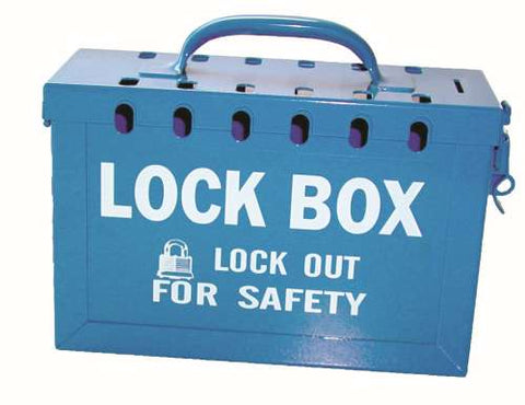 Group Lock Box Blue