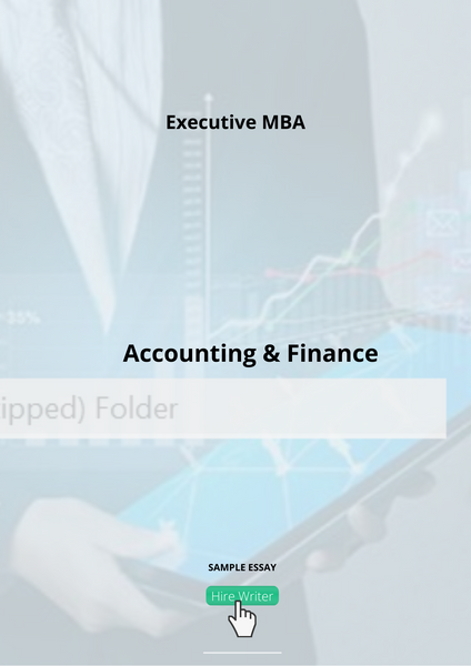 Executive-MBA Accounting & Finance Essay Questions