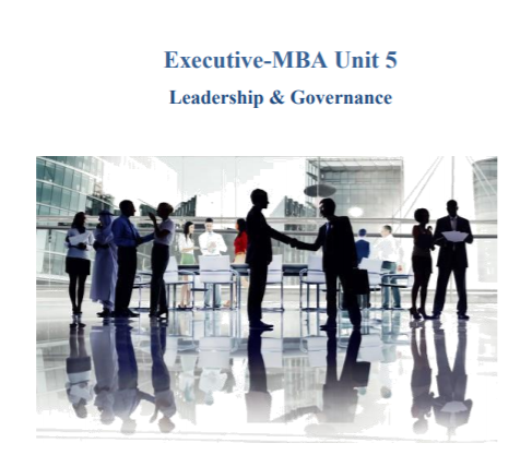 Executive-MBA Leadership & Governance Essay Questions