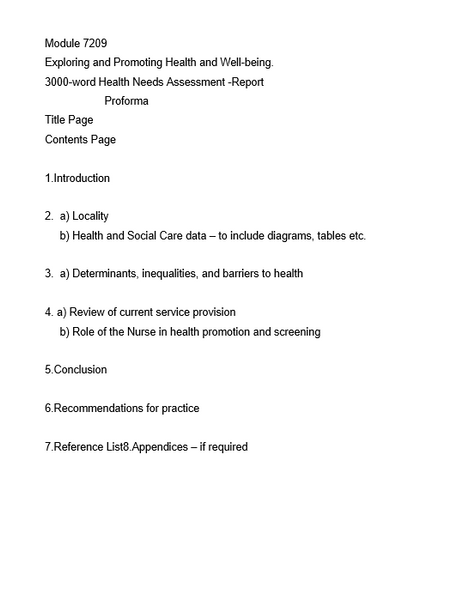 Exploring and Promoting Health and Welbeing Essay Question