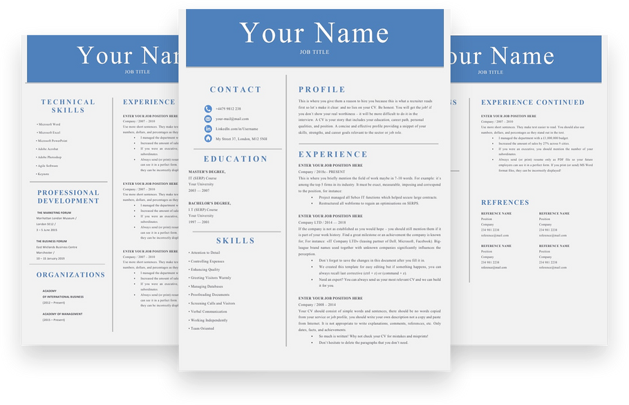 Simple and Effective Resume Templates for Landing a Job