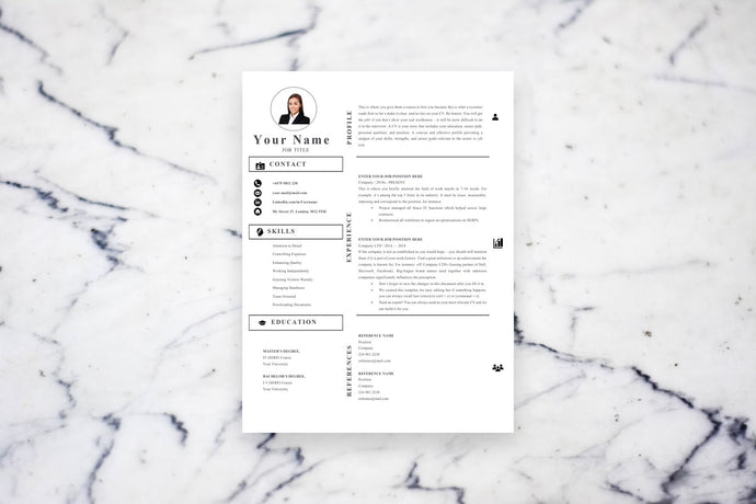 Accounting Resume Resume, 1 page CV Template