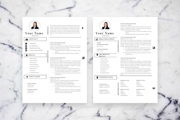 Accounting Resume Resume, 2 page CV Template