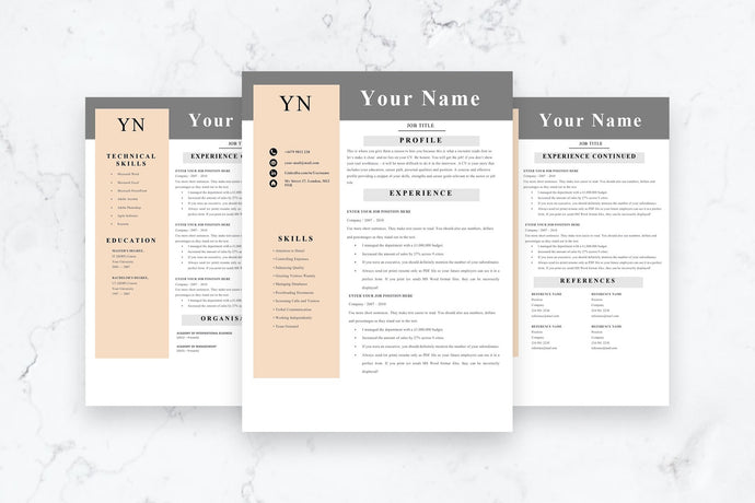 Architect Resume, 3 Page CV Template