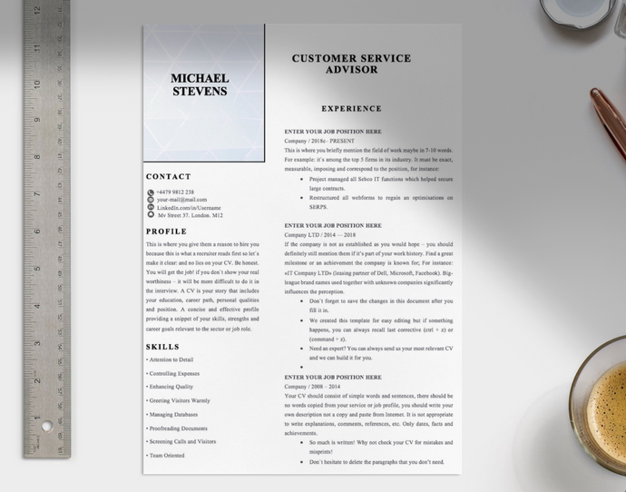 Customer Service Advisor CV
