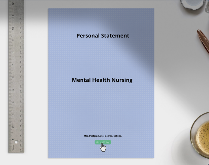 Mental Health Nursing  Personal Statement sample