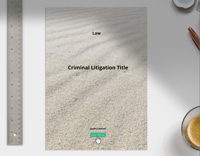 Criminal Litigation report sample