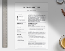 Load image into Gallery viewer, Bandit Professional CV Template - Grammarholic