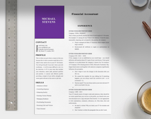 Load image into Gallery viewer, Financial Accountant CV Template