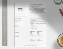 Load image into Gallery viewer, Adams Proffesional 2 page CV Template
