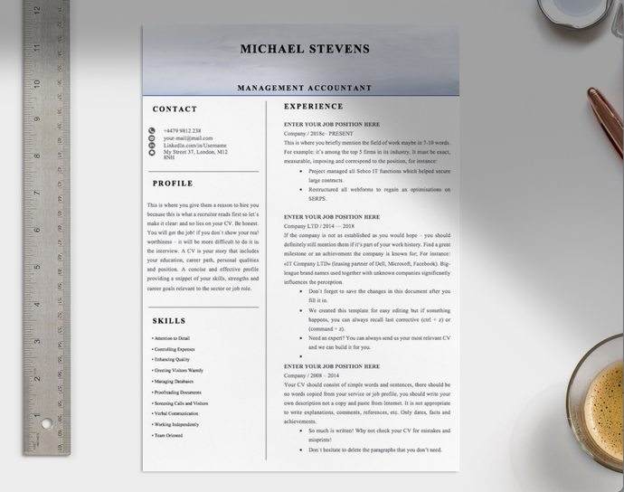 Management Accountant CV