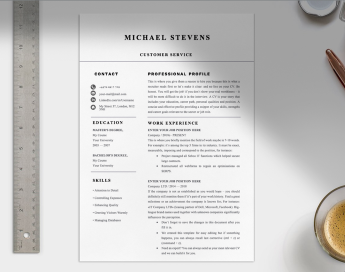 Professional Customer Service CV