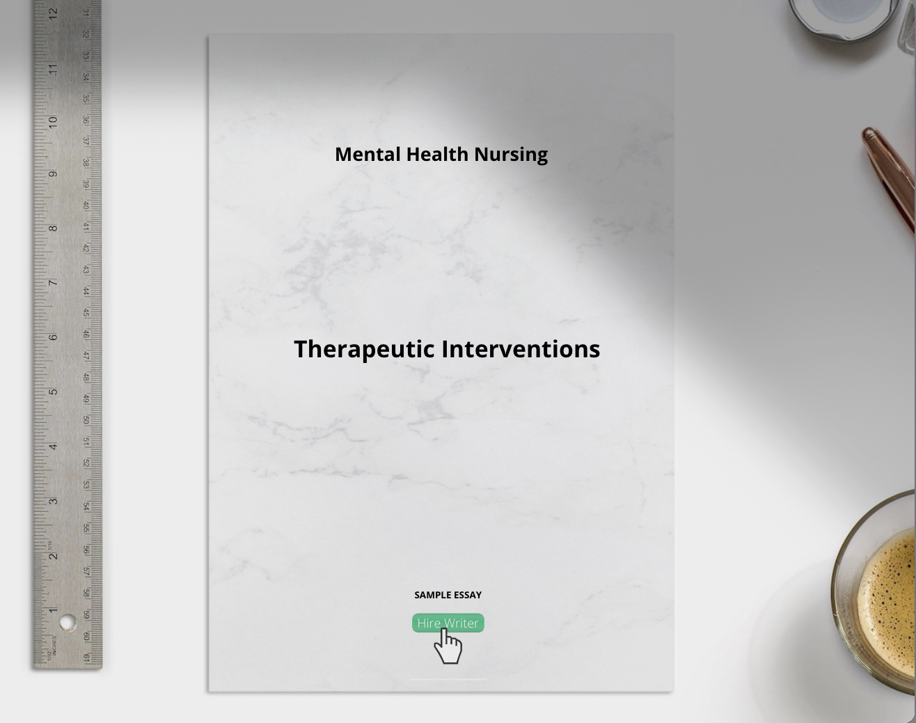 Mental Health Nursing Therapeutic Interventions essay sample
