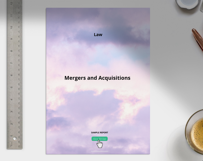Mergers and Acquisitions report sample