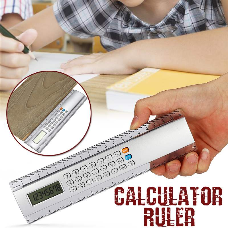Ruler With Calculator Measuring Tool School Office - Grammarholic