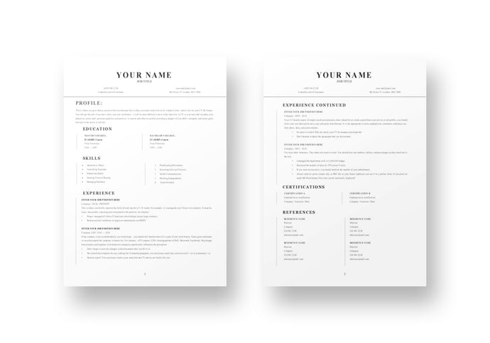 Smooth 2 Page Resume Template