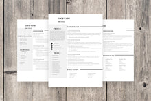 Load image into Gallery viewer, Clean 3 Page Resume Template