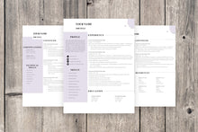 Load image into Gallery viewer, Clean CV Resume Template 3 Page