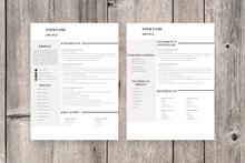 Load image into Gallery viewer, Clean 2 Page Resume Template
