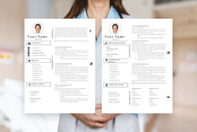 Load image into Gallery viewer, Nursing student resume, 2 page CV Templates