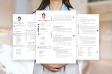 Load image into Gallery viewer, Nursing student resume, 3 page CV Templates