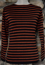 Load image into Gallery viewer, Women's Pima Cotton Fine Stripe Boatneck