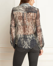 Load image into Gallery viewer, Animal Print Button Down Blouse