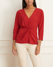 Load image into Gallery viewer, Matte Jersey Long Sleeves Knotted Top