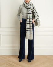 Load image into Gallery viewer, Alpaca Wool Blend Striped Scarf