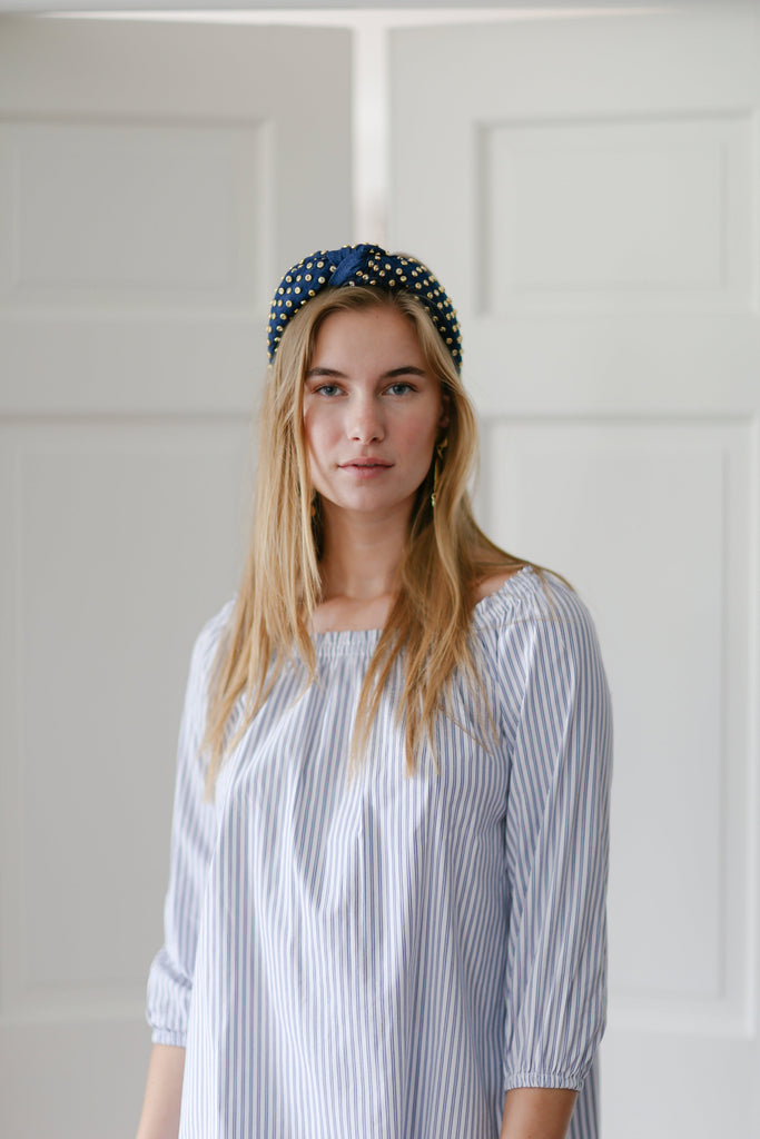 Ophelia Tunic in Oxford Stripe Blue/White - CCH Collection