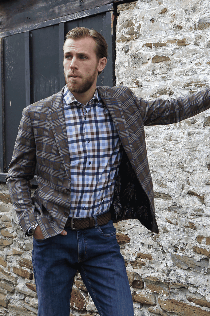 Bentley - Brown Check Sport Jacket - 7 Downie St.®